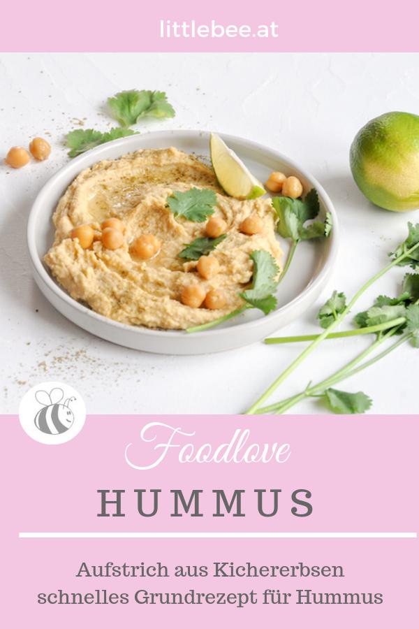 Hummus Grundrezept | klassischer Aufstrich mit Kichererbsen