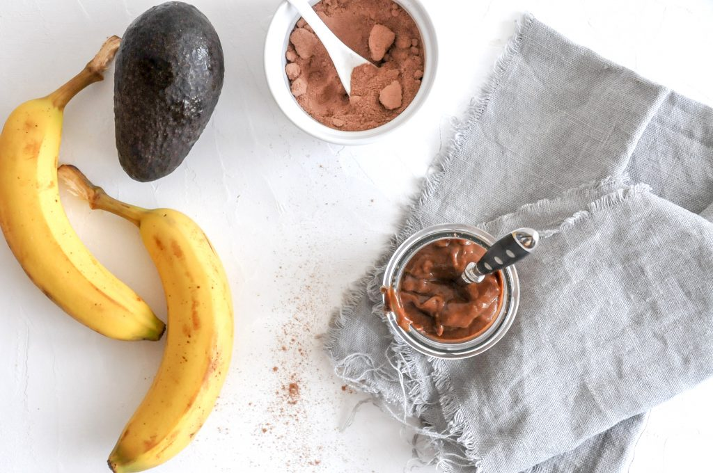 veganes Schoko Mousse mit Banane