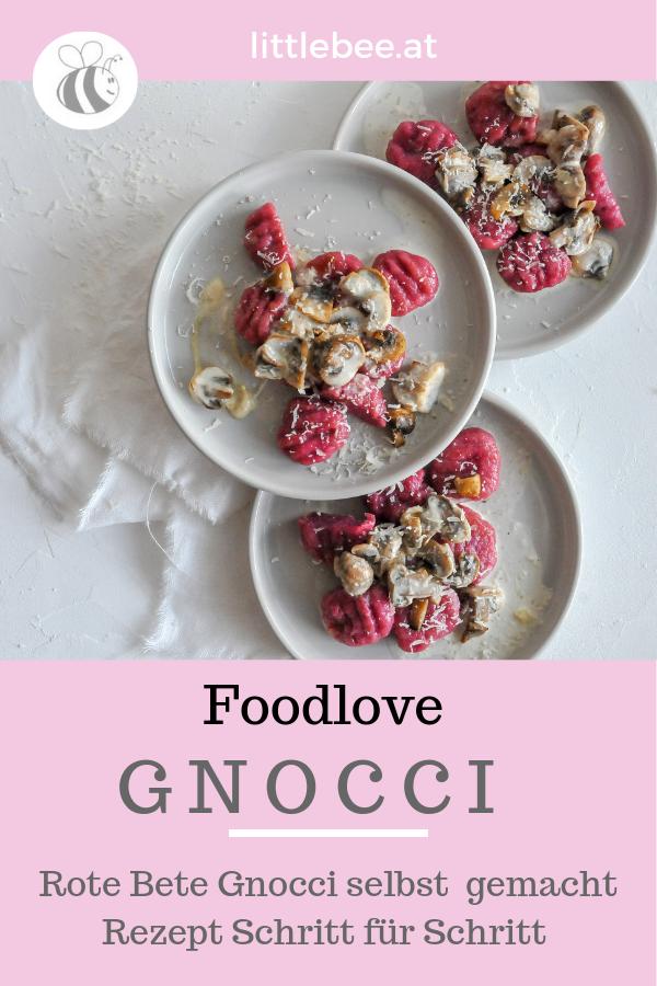 Rote Bete Gnocci mit Pilzsauce | Gnocci selbst gemacht