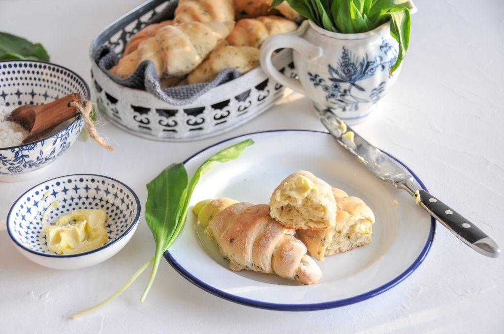 Dinkel Bärlauch Stangerl | Brot backen mit Bärlauch