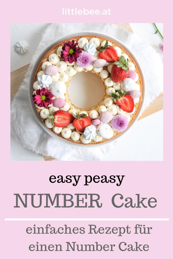 Number Cake | einfacher Kuchen mit WOW Effekt