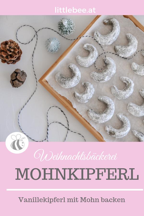 Mohnkipferl | Vanillekipferl ohne Nüsse