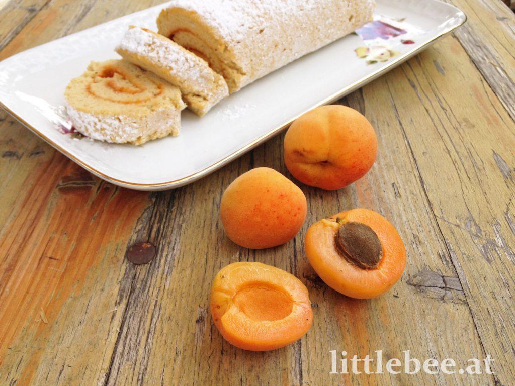 Biskuitroulade mit Marille | einfaches Grundrezept
