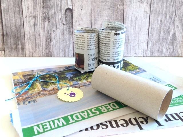 Pflanzentöpfchen DIY - Gemüsepflanzen selbst vorziehen