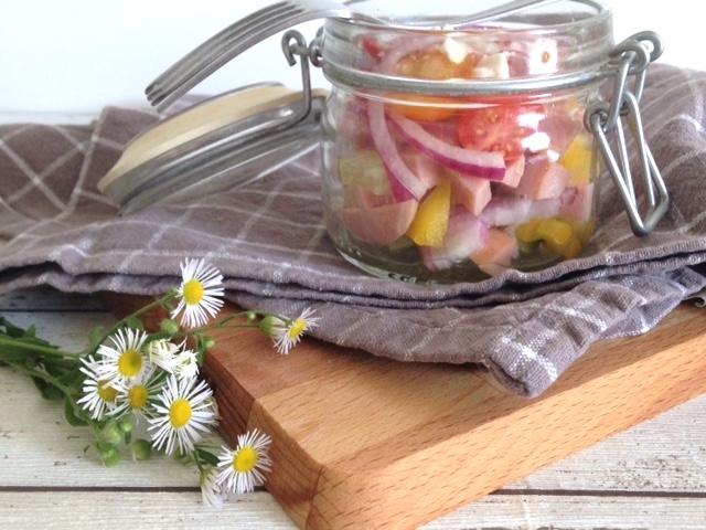 Wurstsalat to go - ein Sommerklassiker