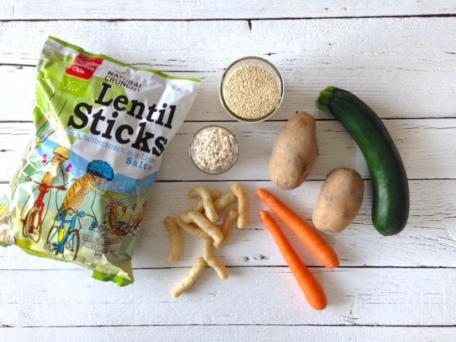 Gemüsebällchen mit Quinoa und frischem Dip