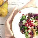 Granatapfel Liebe   winterlicher Salat mit Birne und Feta