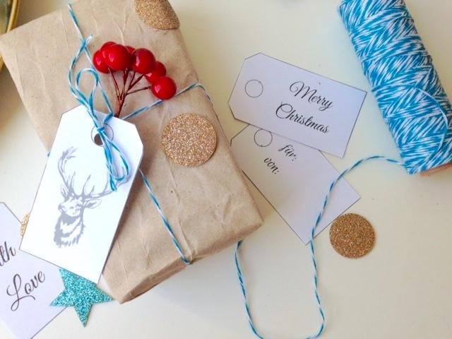 Geschenke verpacken | FREE Printable Päckchenanhänger