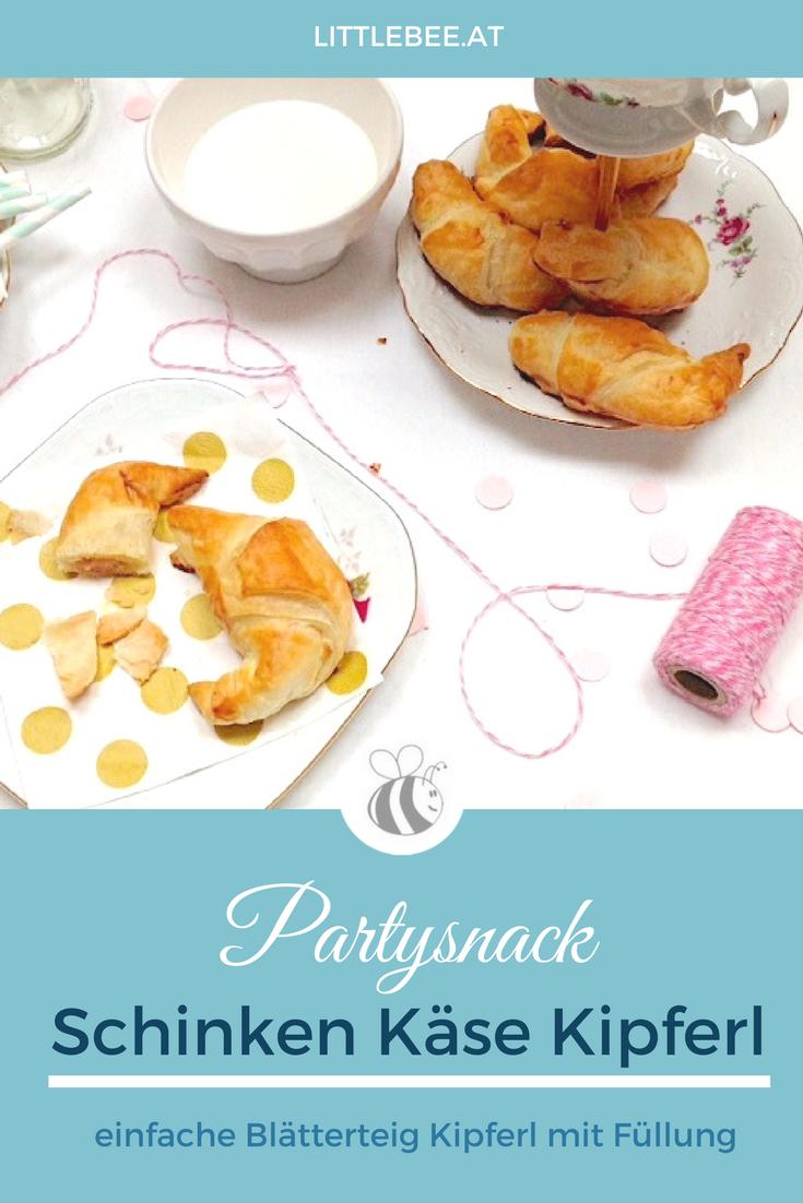 easy peasy Partysnack | Schinken Käse Kipferl