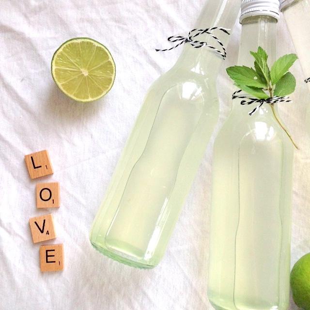 Minze Limetten Sirup | sommerliche Erfrischung selbst gemacht