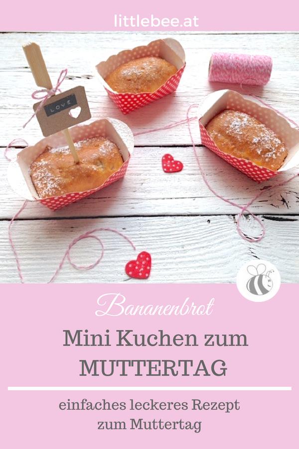 Muttertag ist Küchenzeit | Mini Bananenbrot als Geschenk