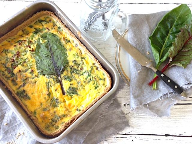 leckere Quiche mit Mangold und Zwiebeln | Foodlove