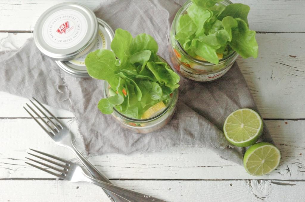 Regenbogensalat to go | Snackidee für unterwegs