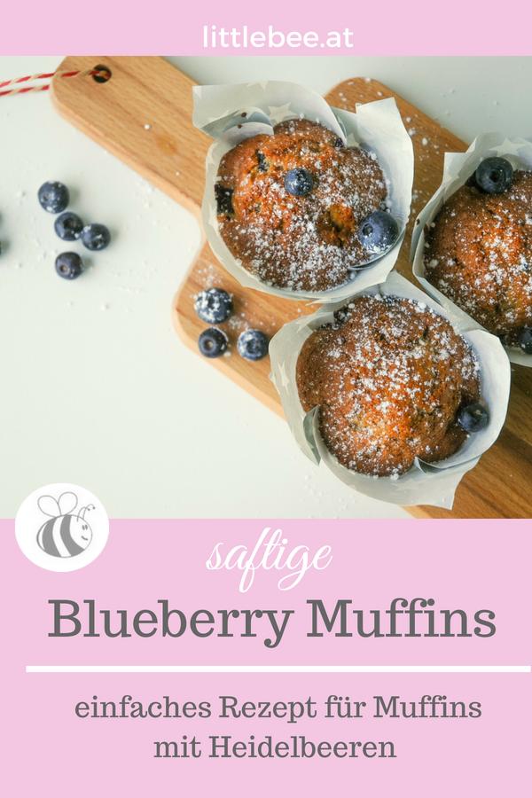 saftige Muffins mit Heidelbeeren | einfaches Rezept