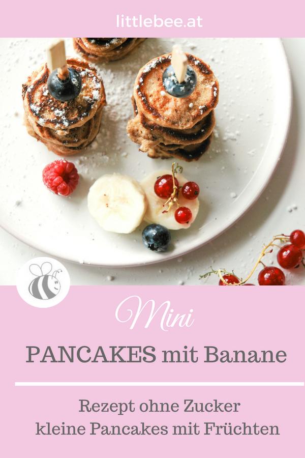 Mini Pancakes mit Banane ohne Zucker