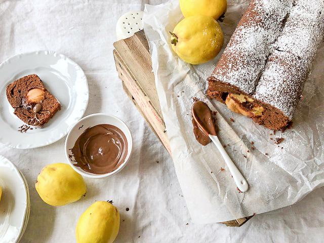 Quitte küsst Schokolade | saftiger Quittenkuchen