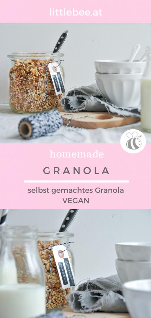 homemade Granola | vegane Müslimischung für dein Frühstück