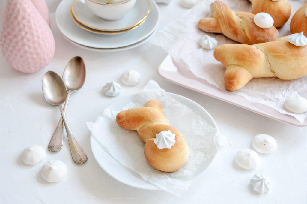 kleine Brioche Hasen fürs Osterfest