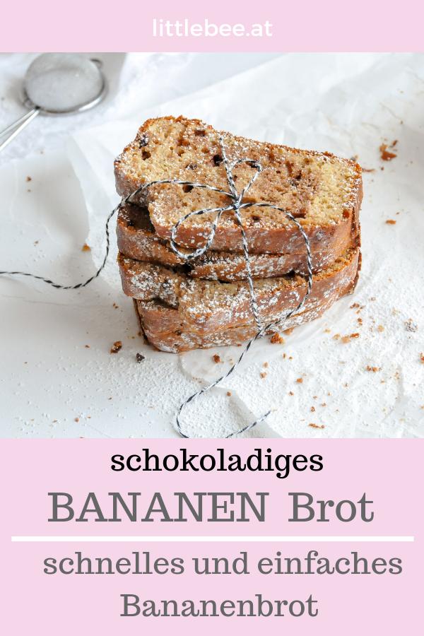 Bananenbrot mit Schokolade | Kuchen für die Seele