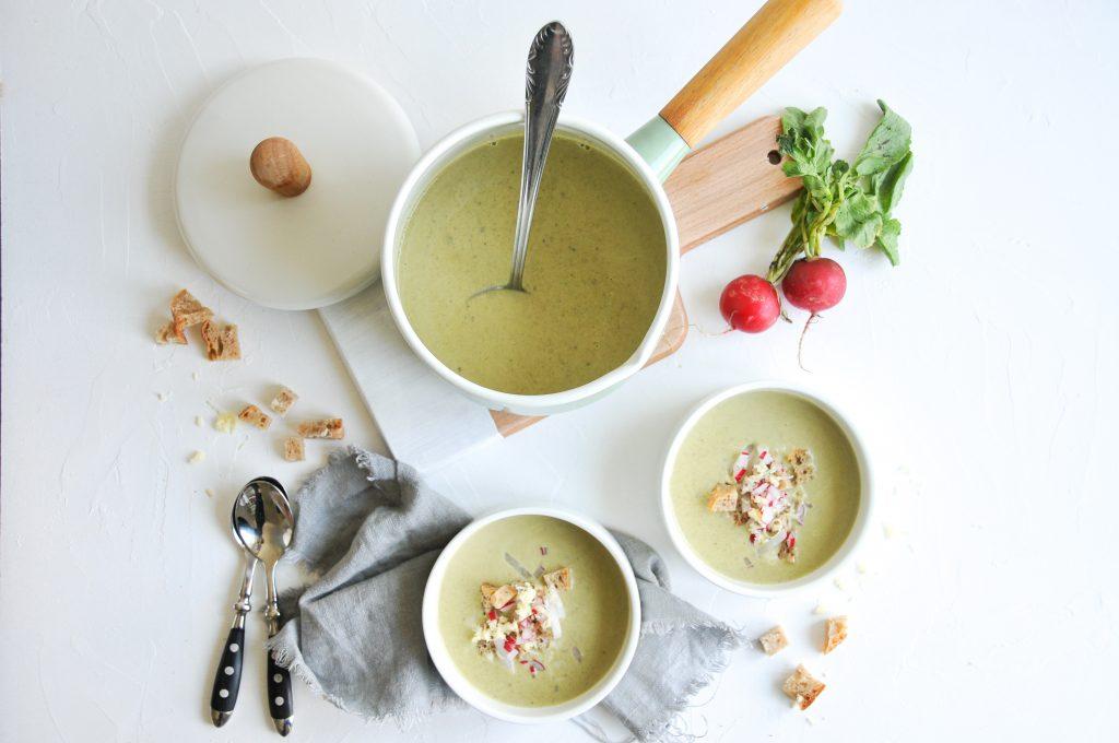 Radieschen Blätter Suppe | cremige Suppe mit Cheddar littlebee