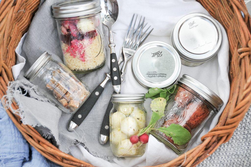 Couscous Salat mit Rote Rübe und Radieschen | Snack Ideen to go