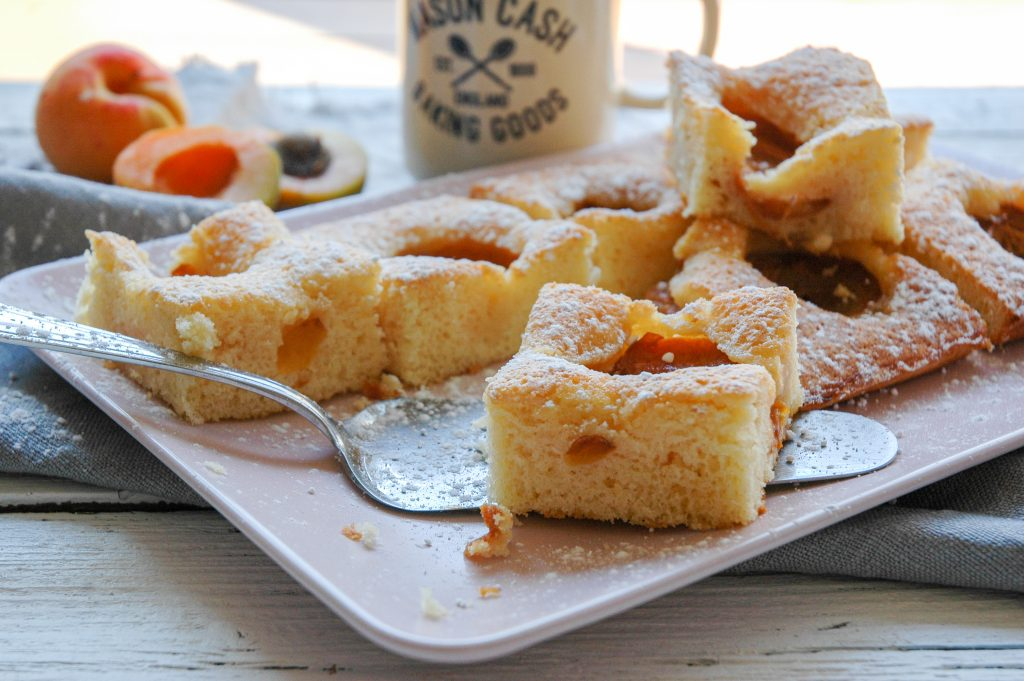 fluffiger Marillenkuchen vom Blech | mein Sommerliebe Blechkuchen