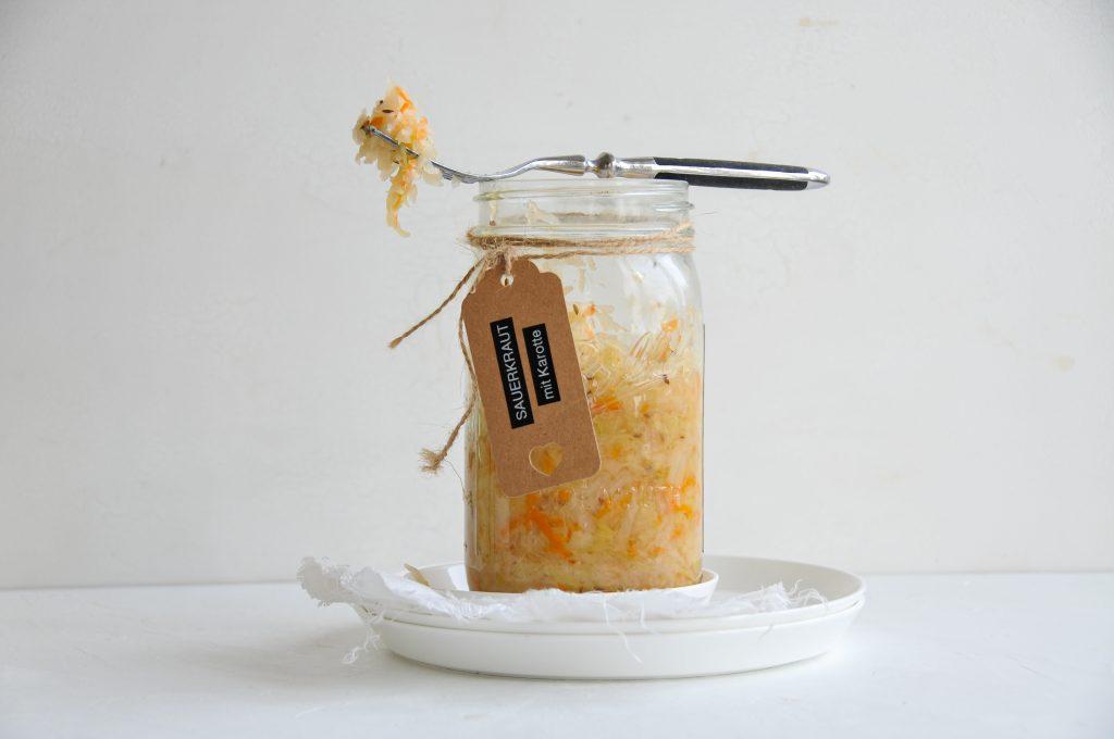 Bandnudeln mit Sauerkraut Schinken Sauce | nachhaltig verpackt mit JA! Natürlich