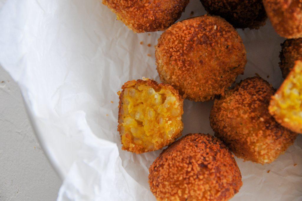 Kürbis - Reisbällchen | vegan kochen für Kinder