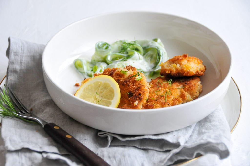 Fischfilet mit knackiger Cornflakes Panade ohne Ei