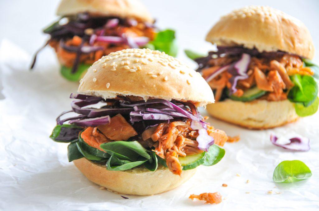 Pulled Pork Burger mit Jackfruit | vegane Küche ganz einfach Michaela Titz littlebee