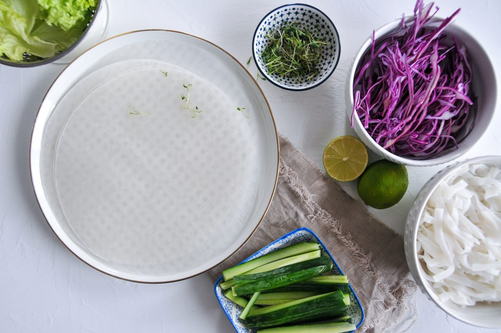 einfache Sommerrollen | gesunde Sommerküche mit viel Gemüse