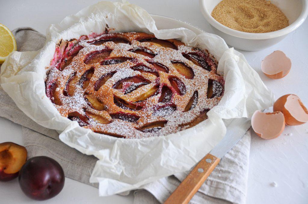 Topfen Pflaumen Tarte | Sommerkuchen mit frischen Früchten