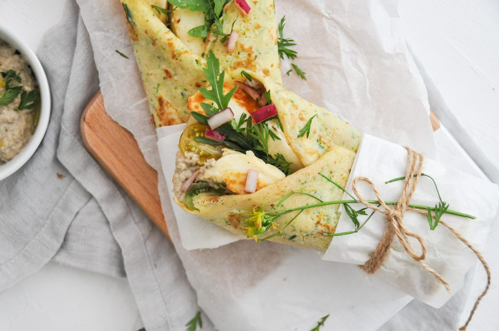 Gemüsepalatschinken mit Baba Ganoush | Sommerküche Michaela Titz littlebee