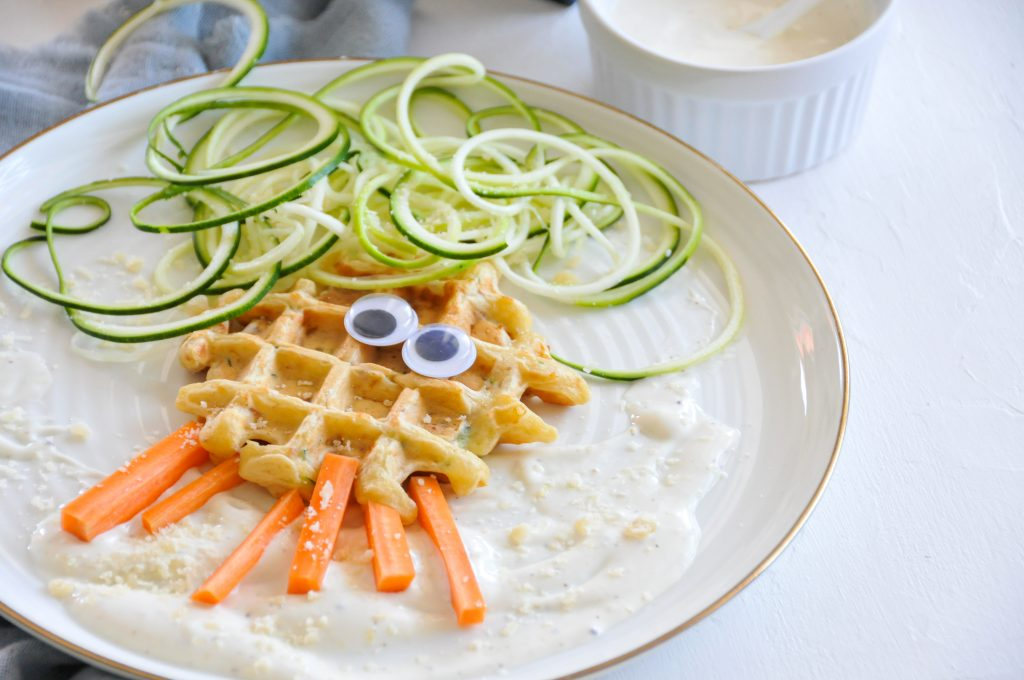 Zucchini Waffeln mit Grana Padano | Gemüseküche für Kinder