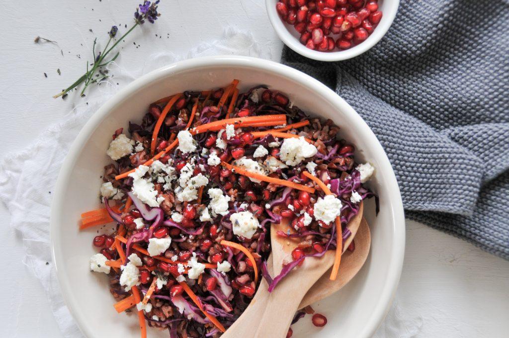 bunter Reissalat mit Gemüse | Salatbowl für kalte Tage