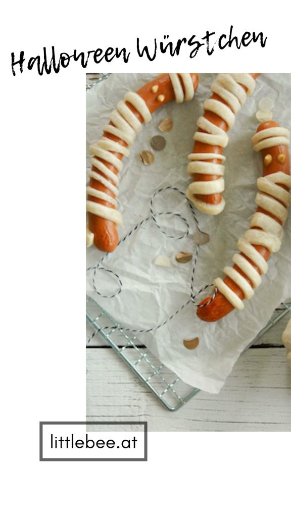 Mumien Würstchen für die Halloween Party | einfacher Partysnack Michaela Titz littlebee.at