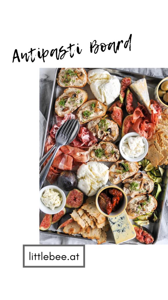 Antipasti Board mit Crostini | Settimana della Cucina Italiana